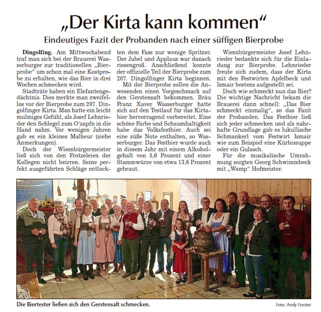 Bericht Bierprobe 2018